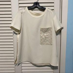 Rag & Bone cream Silk Shirt